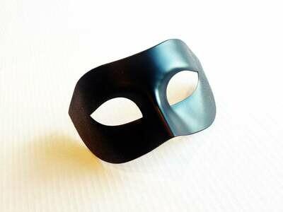 Classic Black Mens Masquerade Mask