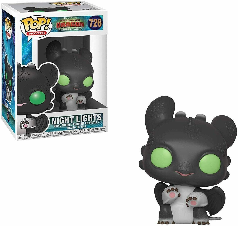 Funko Pop! Night Lights Ojos Verdes Entrenar tu Dragón