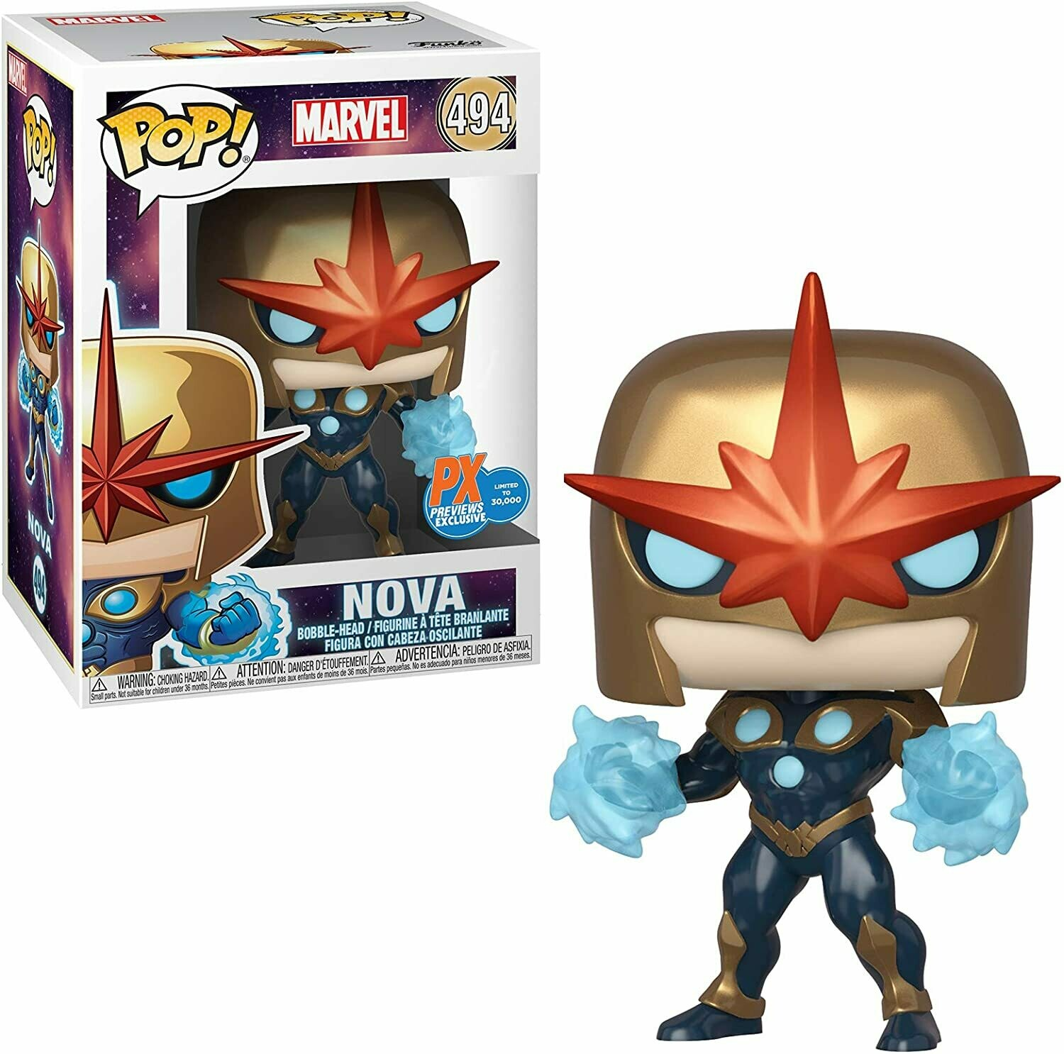 Funko Pop! Marvel: Nova Previews Exclusivo