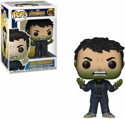 Funko Pop! Marvel: Bruce Banner Av Infinity War Caja c Detalle