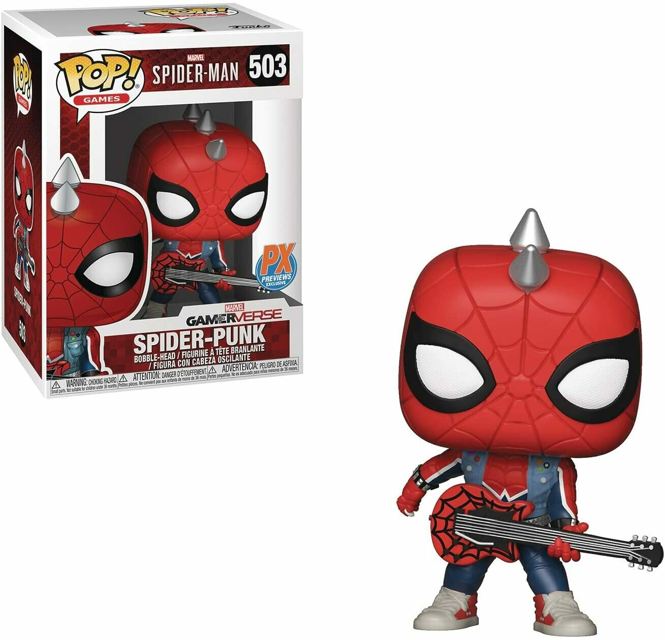 Funko Pop Marvel: Spider-Man Spider-Punk PX Exclusivo
