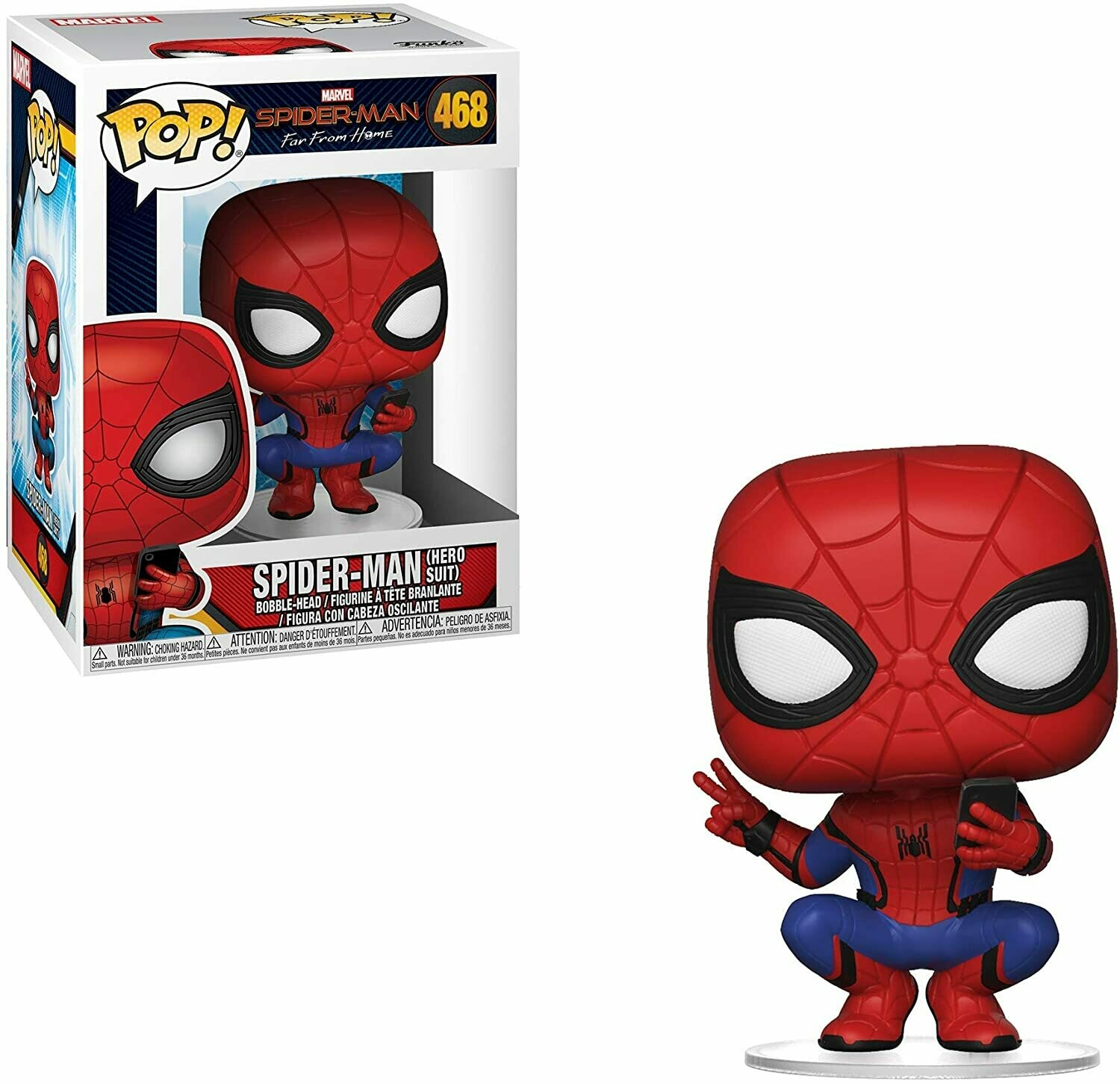 Funko Pop! Spider-man Hero Suit Lejos de Casa