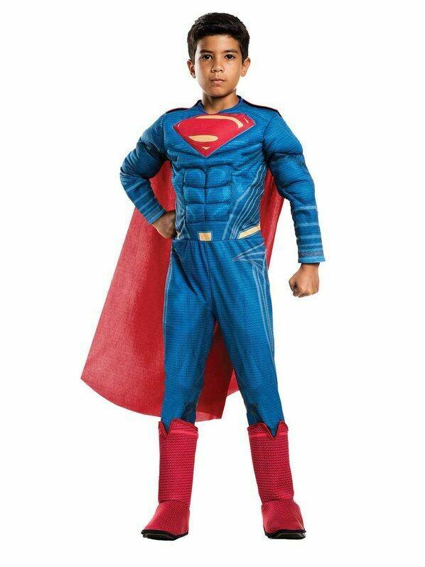 Disfraz Niño Superman con musculo Liga de la Justicia