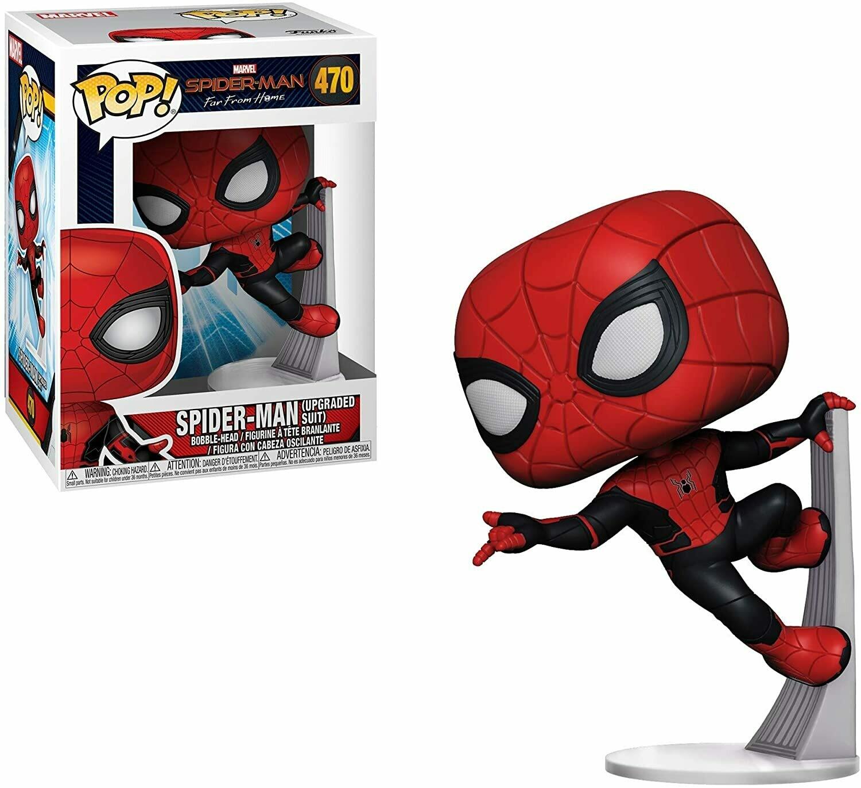 Funko Pop! Spider-man Upgraded Suit Lejos de Casa