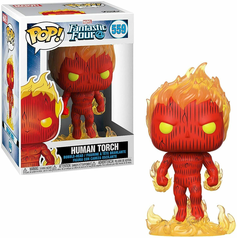 Funko Pop! Marvel: Antorcha Humana Los 4 Fantasticos
