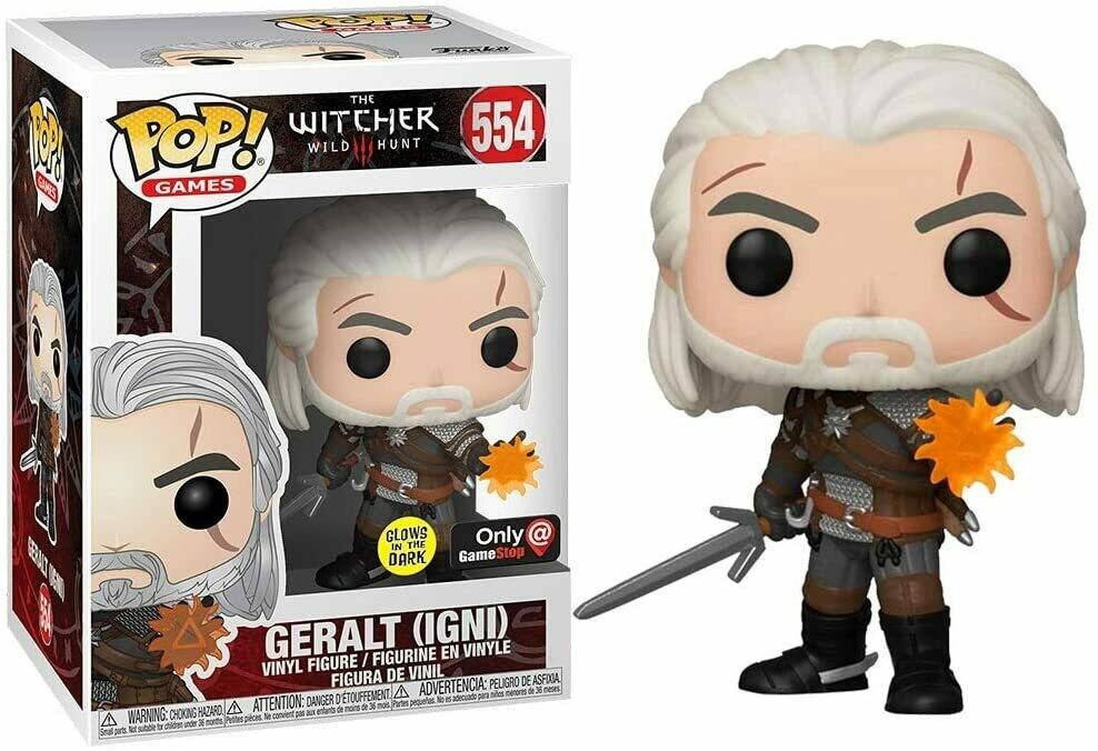 Funko Pop! Geralt (Igni) The Witcher Exclusivo Gitd