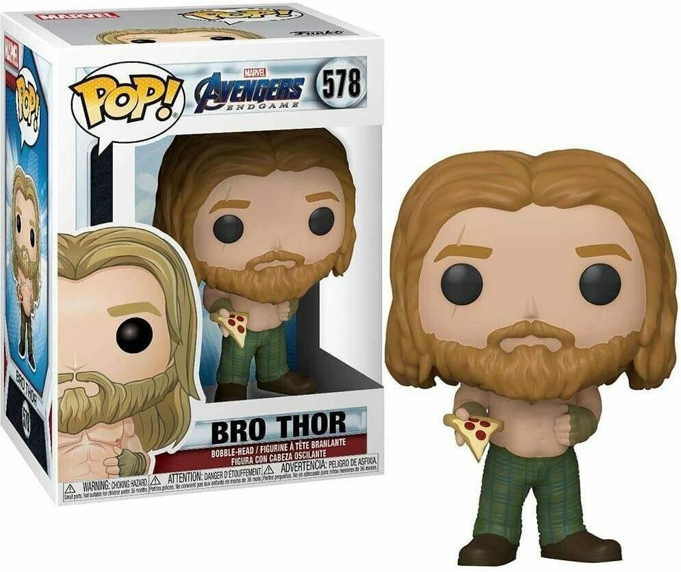 Funko Pop! Marvel: Bro Thor con Pizza Avengers Endgame