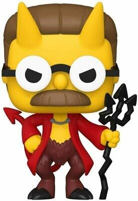 Funko Pop! Ned Flanders Diablo - Simpsons Casa d Horror