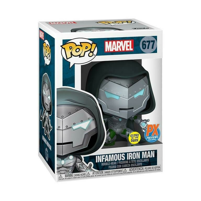 Funko Pop! Marvel: Infamous Iron Man Glow Previews Exc