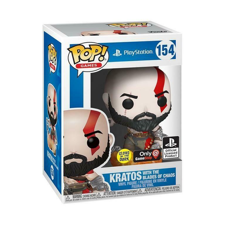 Funko Pop! Kratos con Blades of Chaos #154 Gitd