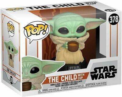 Funko Pop! The Child Baby Yoda con taza #378