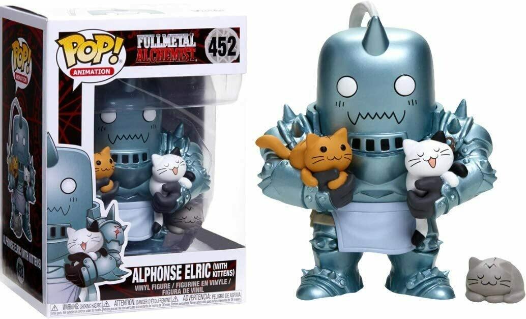 Funko Pop! Alphonse Elric c Gatos - Fullmetal Alchemist