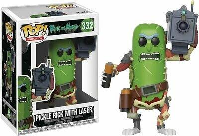Funko Pop! Pickle Rick Pepino con Laser - Rick & Morty