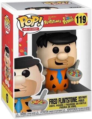 Funko Pop! Pedro Picapiedra c/ Fruity Pebbles #119