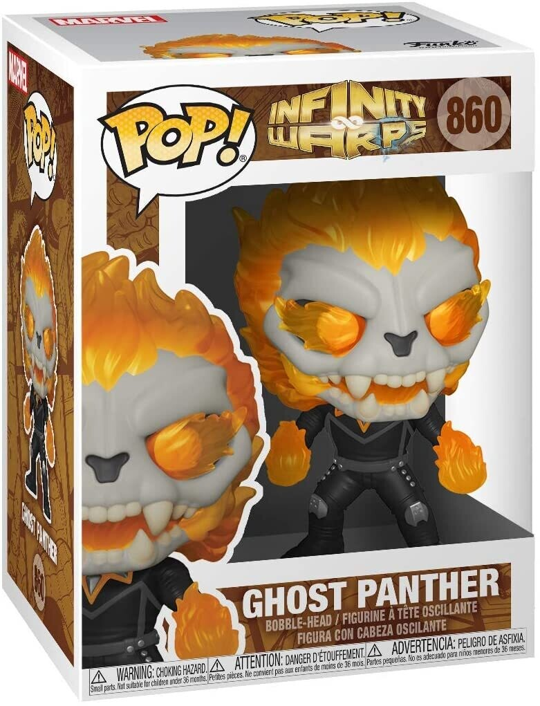 Funko Pop! Ghost Panther #860 - Marvel Infinity Warps