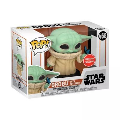 Funko Pop! Grogu Baby Yoda con Mariposa #468