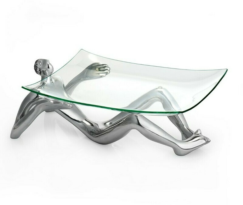 Carrol Boyes: Glass Platter and Stand 'On Show'