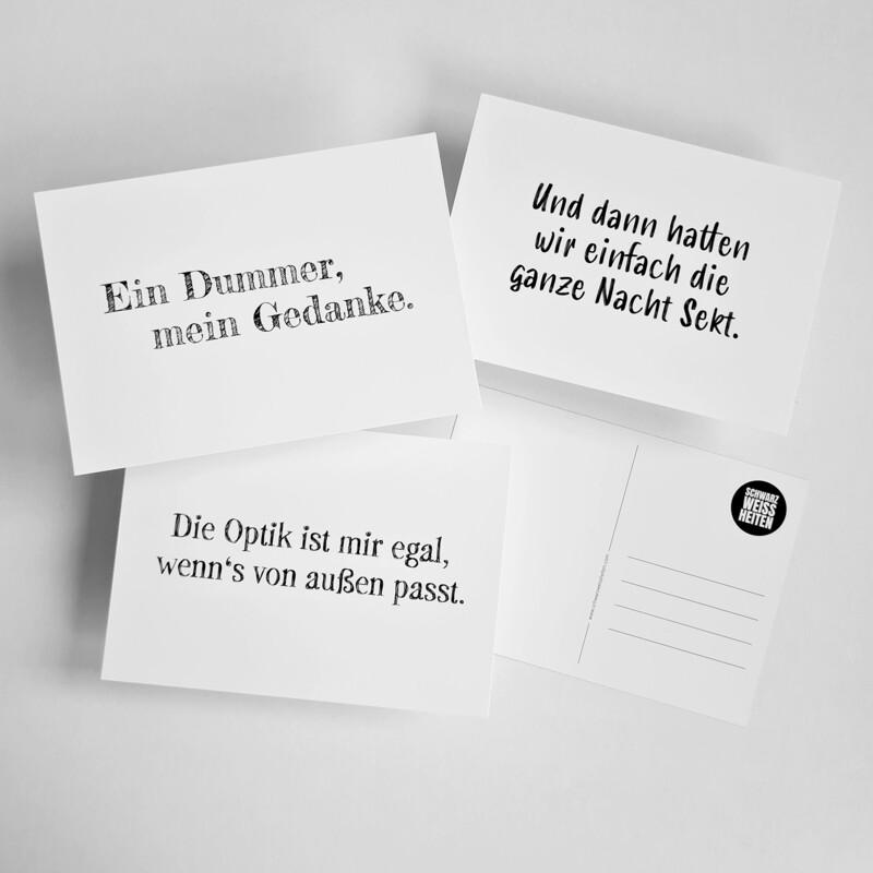 """Postkarten-Set """"WEISS"""""""