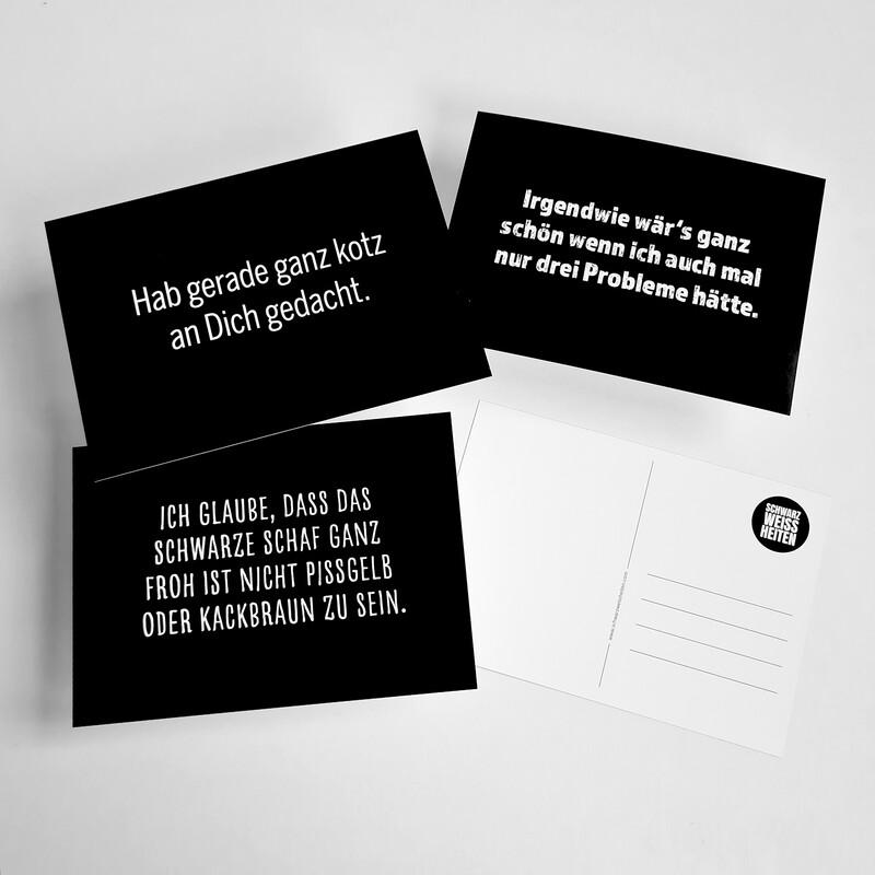 "Postkarten-Set ""SCHWARZ"""