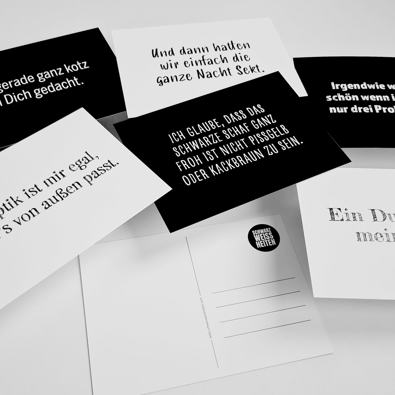"Postkarten-Set ""SCHWARZWEISS"""
