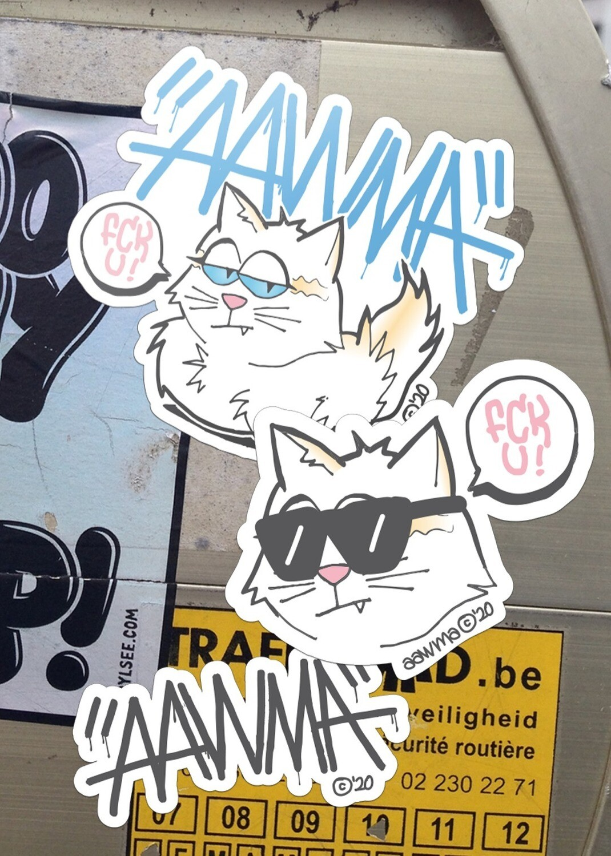 Stickers Gata Braba