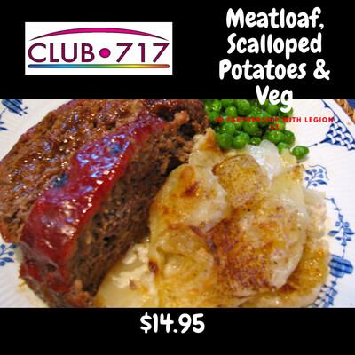 Meatloaf, Scalloped Potatoes & Veg