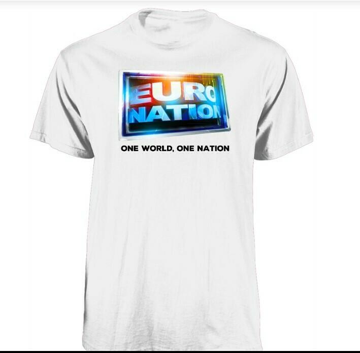 Euro Nation Logo Tee - White