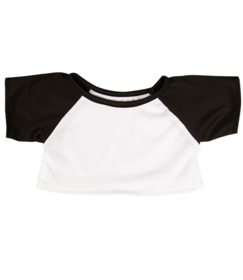White Tee with Colored Sleeves
