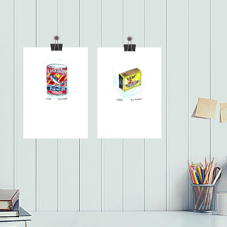 Lion Match digital art print A4