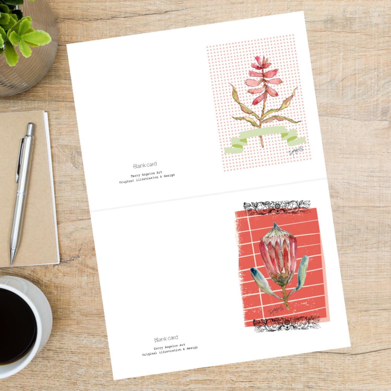 Protea and Aloe Botanical Cards