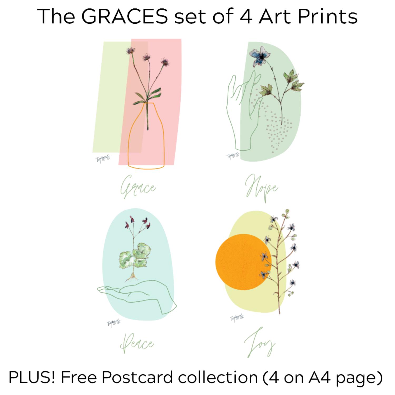 GRACES set of 4 prints