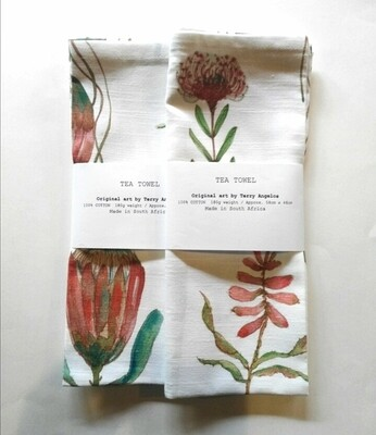 Table Napkins PROTEA on WHITE