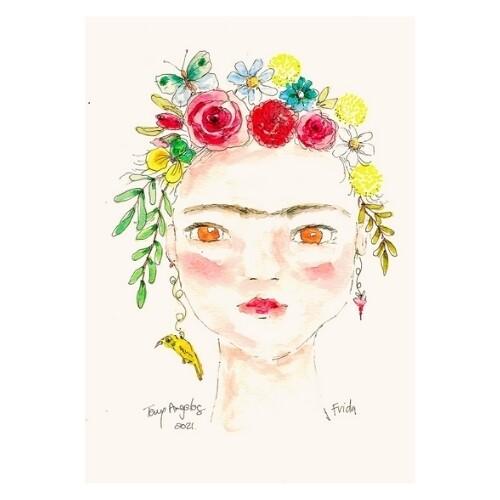 Frida portrait A4
