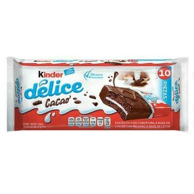 Kinder Delice Mini Cake with Cocoa Coating 10 Units/39 g