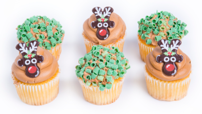 Member's Selection. Holiday Cupcakes 6 Count