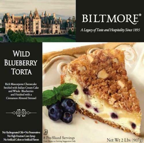 Biltmore Wild Blueberry Torta 907 g / 2 lb