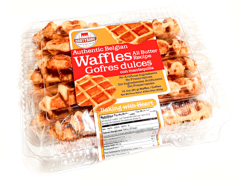 HartyBake. All Butter Belgian Waffles 3oz 10 Count
