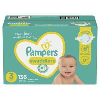 Pampers Swaddlers Diapers Size 3/136 ct