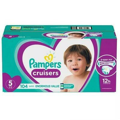 Pampers Cruisers Disposable Diapers Size 5 with 104 Units