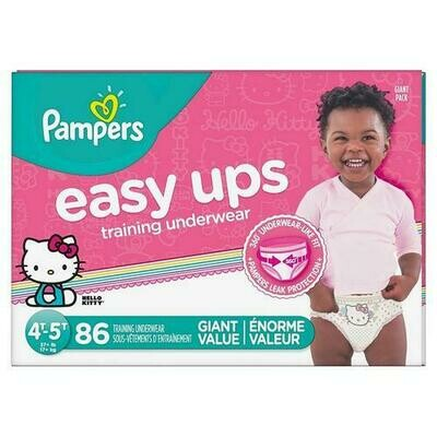 Pampers Easy Ups Girl Size 4T-5T/86ct