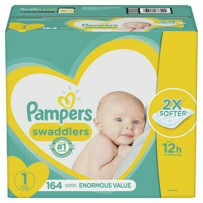 Pampers Swaddlers Size 1/164 ct
