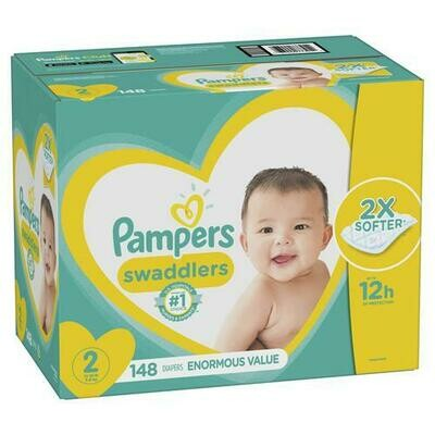 Pampers Swaddlers Size 2/148 ct