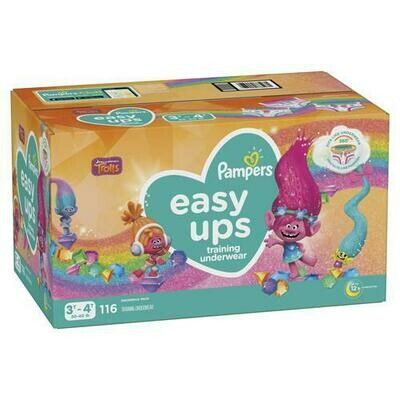Pampers Easy Ups Girl Diapers Size 3T-4T 116ct