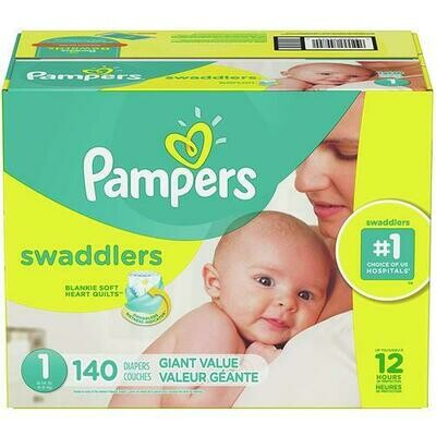 Pampers Swaddlers Diapers Size 1 with 140 Units