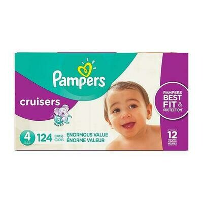 Pampers Cruisers Disposable Diapers Size 4 with 124 Units