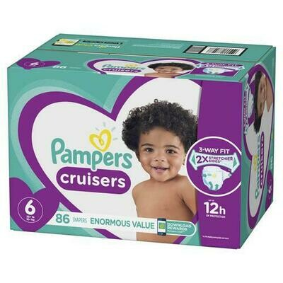 Pampers Cruisers Disposable Diapers Size 6 with 86 Units