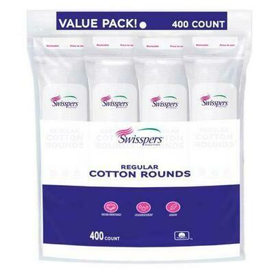 Swisspers Cotton Rounds 4 pk/100 ct