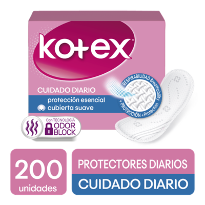 Kotex Daily Care Daily Liners, 200 units