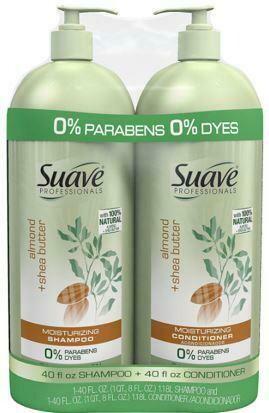 Suave Almond + Shea Shampoo and Conditioner 2 pk/40 oz