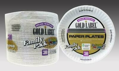 "Gold Label 9"" Paper Plates 300 ct"